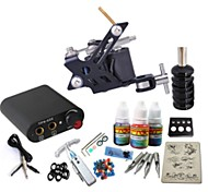 Tattoo Kit JH557 1 Machine With Power Supply Grips 3x10ML Ink