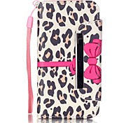 For iPhone 5 Case Card Holder / with Stand Case Full Body Case Leopard Print Hard PU Leather iPhone SE/5s/5