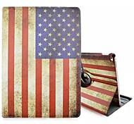 Специальная конструкция новизны американский флаг пу кожаный фолиант случай кобуры 360⁰ случай Ipad про