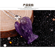 Purple jade pendant bird dove pendant necklace