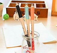Milk Cup Pendant Pen Cap Black Ink Gel Pen(1 PCS)