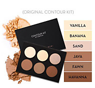 Aesthetica Cosmetics Contour and Highlighting Powder Foundation Palette / Contouring Makeup Kit; Easy-to-Follow