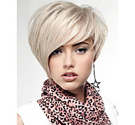 Natural Light Blonde Straight Lambskin Short Wig For Woman free shipping