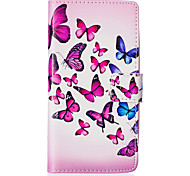 Butterfly Swarm Around Open Holster for LG Leon H340N/LG manga H502/LG spirit H 422