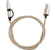 escudo da liga de Harber micro usb turn tipo C no cabo de dados de alta velocidade para chromebook&macbook