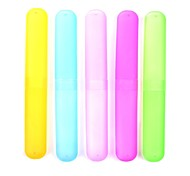 5-Pack Different Color Plastic Toothbrush Case Holder for Travel Use Random Color