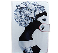 Girl Patter PU Leather Full Body Case with Stand for Samsung Galaxy T350/T530/T550