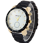 Men's Business Fashion Stainless Steel Band Quartz Watch Wrist Watch Cool Watch Unique Watch