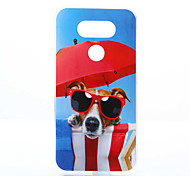 Glasses Dog Pattern TPU+IMD Soft Case for LG G5