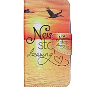 For Wiko Case Card Holder / with Stand / Flip / Pattern Case Full Body Case Scenery Hard PU Leather Wiko