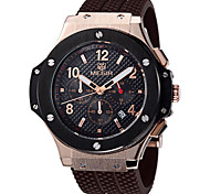 deportes de los hombres megir ® relojes de pulsera correa de silicona reloj de manera grandes funciones de fecha cronógrafo redonda reloj