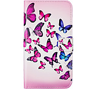 Butterfly Pattern Embossed PU Leather Case for Sony Xperia Z5/ Xperia Z5 Compact