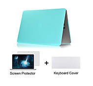 "Case for Macbook Air 11.6"" MacBook Pro 13.3""/15.4"" Solid Color ABS Material Matte Plastic Full Body Case + TPU Keyboard Cover + Screen Protector"