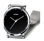 SINOBI High Quality Top Brand For Watches Mens Super Slim Steel Quartz-watch Males Casual Best Wrist Watch
