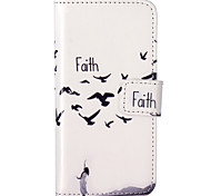 Faith Pattern Embossed PU Leather Case for iPhone 5/iPhone 5S/iPhone SE