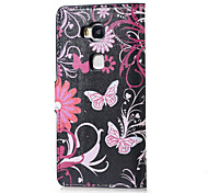 Flower and Butterfly Magnetic PU Leather wallet Flip Stand Case cover for Huawei Honor 5X