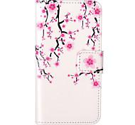 motif prune fleur embossé pu étui en cuir pour iphone 5 / iphone 5s / iphone soi
