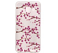For Samsung Galaxy Case Glow in the Dark / Pattern Case Back Cover Case Flower TPU Samsung A3(2016)
