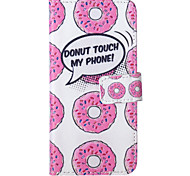 iPhone 7 Plus Donuts Pattern PU Leather Material Phone Case for iPhone 5/5S/iPhone SE