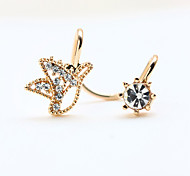New Fashion Rhinestone Super Cute Little Bird Clip Earrings