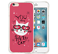 Animation World Soft Transparent Silicone Back Case for iPhone 6/6S (Assorted Colors)
