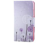 Corpo Completo carteira / Entrada de Cartão / com suporte dandelion Couro Ecológico Duro Case Capa Para Huawei Huawei Honor 5X