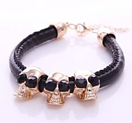 Europe and exaggerated retro punk diamond skull women Bracelet