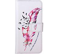 Für iPhone 5 Hülle Geldbeutel / mit Halterung / Flipbare Hülle Hülle Handyhülle für das ganze Handy Hülle Feder Hart PU - LederiPhone