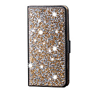 For iPhone 5 Case with Stand Case Full Body Case Glitter Shine Hard PU Leather iPhone SE/5s/5