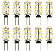 10 In 1 3528 G4 26 SMD Warm White Light Car Bulb Lamp 3000-3500K(DC12V)