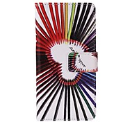 Pencil Love Painted PU Phone Case for iphone5SE