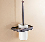 Antique Black Wall Mounted Brass Material Toilet Brush Holder