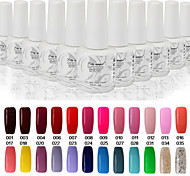 Newest Popular Top Fashion Non-toxic Soak-off UV & LED Resin Gel Polish (9ml,1-38 Colors)