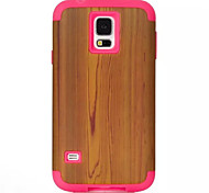 Cartoon weichem Silikon transparent Telefonkasten für Holzmaserung s5 Samsung Galaxy Plastikschutzhülle