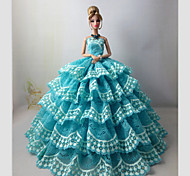 Barbie Doll Holiday Party Dress Lake Blue Indian Style
