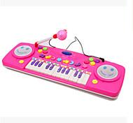 25 hhealth iluminación música preescolar teclado multifuncional de aprendizaje con el color del micrófono ramdon