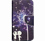 For Acer Case Card Holder / with Stand / Flip / Pattern Case Full Body Case Dandelion Hard PU Leather for Acer