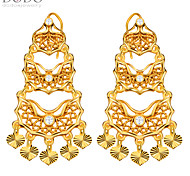 Luxury Simulated Diamond Earrings 18k Gold Plated Jewelry Drop Earrings for Women Bridal Gift E10141