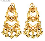 Luxury Simulated Diamond Earrings 18k Gold Plated Jewelry Drop Earrings for Women Bridal Gift E10141