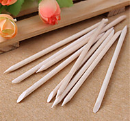 10pcs Nail Art Orange Wood Stick Cuticle Pusher Remover for Manicures Care