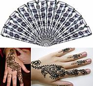 12 * nero * coni henné tatuaggio temporaneo a base di erbe inchiostro kit body art mehandi Hina