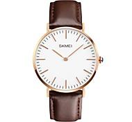 Men's  Simple Fashion Leather Band Quartz Watch