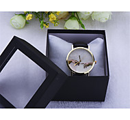 Hand in hand watch Vintage Style Leather watches for ladies Women,Unisex Boyfriend quartz wristwatch
