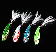 "4pcs pc Esca metallica Colori casuali 11g g/3/8 Oncia,55mm mm/2-1/8"" pollice,Metallo Pesca con esca"