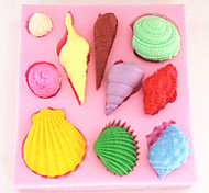 раковину выпечки помадка торт Choclate конфеты плесень, l8cm * w7.2cm * h1.3cm