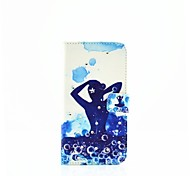 Yoga Diamond Pattern Painted PU Phone Case for Galaxy A310/A510/A710/A9