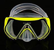 Máscaras de mergulho-Amarelo-PVC