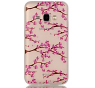 For Samsung Galaxy Case Glow in the Dark Case Back Cover Case Flower TPU Samsung J1 (2016)