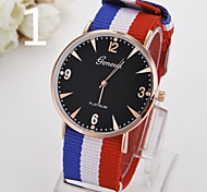 Ladies' Watch The New Geneva Nylon Woven Watch Strap Watch