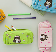 Three Layers Of Large Capacity Pen Bag Of Pencil Case,  Lovely Girl Creative Multi-Functional Cosmetic Bag